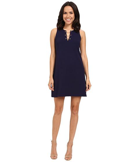 Jessica Simpson Solid Scuba Dress with Grommet Chain Detail JS6D8719