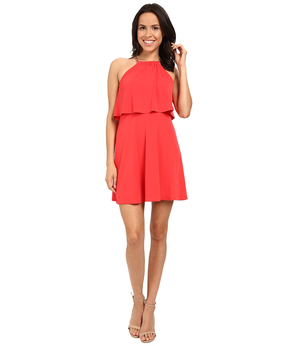 Jessica Simpson - Solid Pop Over Dress JS6D8646 (Poppy Red) Womens Dress