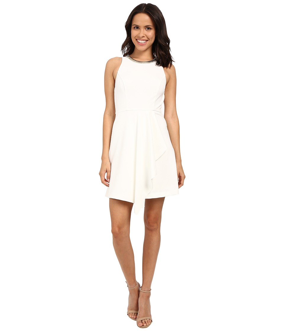 Jessica Simpson Fit Flare Dress with Skirt Overlay JS6D8692 Ivory Womens Dress