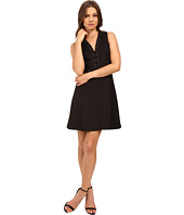 Jessica Simpson - A-Line Dress with Lace-Up V-Neck Detail JS6D8658