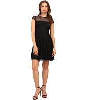 Jessica Simpson - Lace Cap Sleeve Fit & Flare Dress JS6T8820