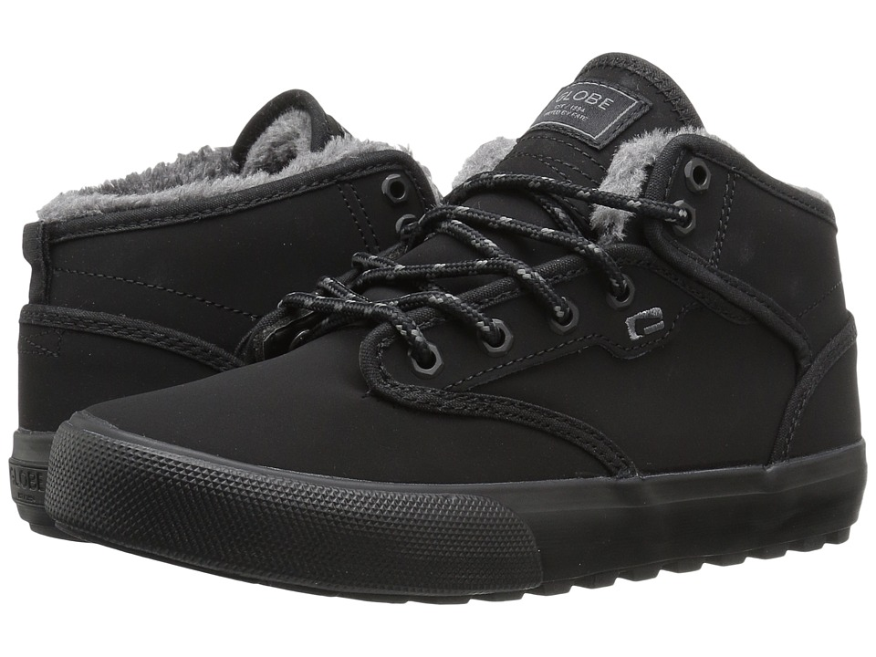 Globe Motley Mid (Black/Black Fur) Men