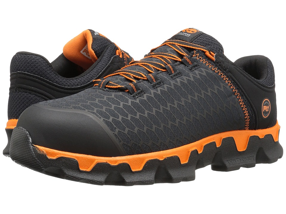 Timberland PRO Powertrain Alloy Toe (Black Synthetic/Orange) Men