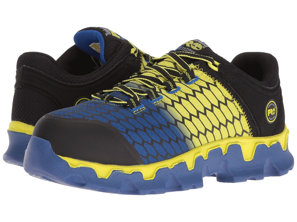 Timberland PRO Powertrain Alloy Toe SD+ (Black Synthetic/Yellow/Blue) Men