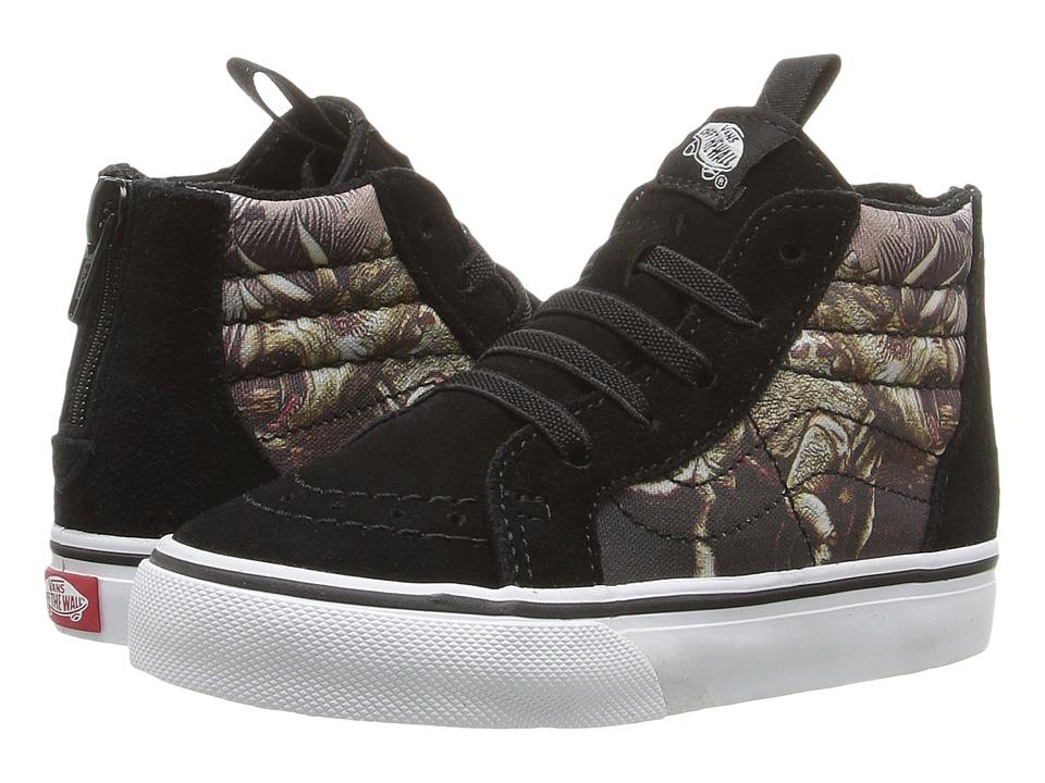 Vans Kids - Sk8-Hi Zip (Toddler) ((Triceratops) Black/True White) Boys Shoes