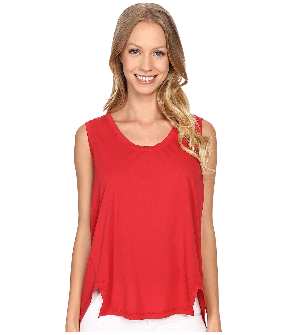 The Beginning Of Danica Slit Hem Tank Top Red Womens Sleeveless