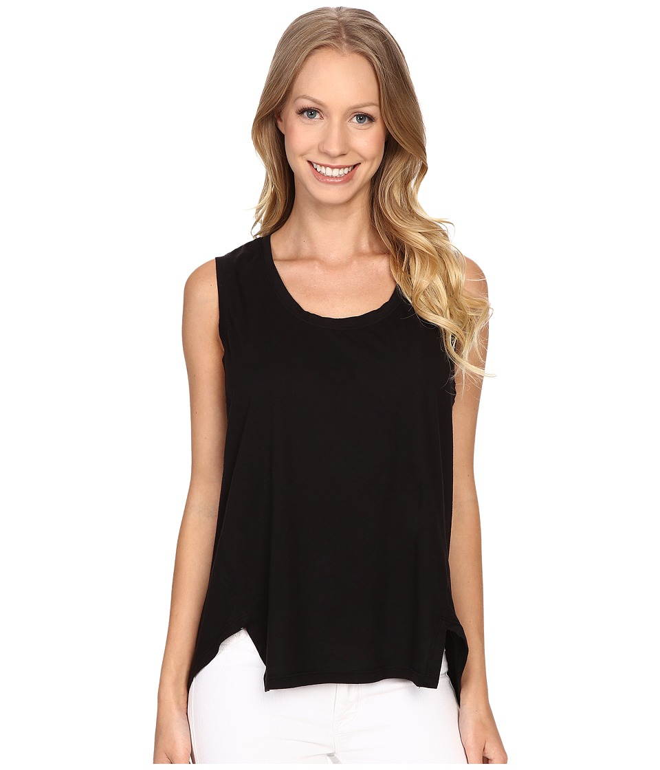 The Beginning Of Danica Slit Hem Tank Top Black Womens Sleeveless