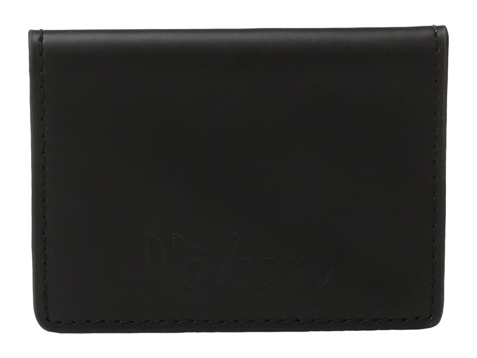 Volcom - Stone Fold Wallet (Black) Wallet Handbags