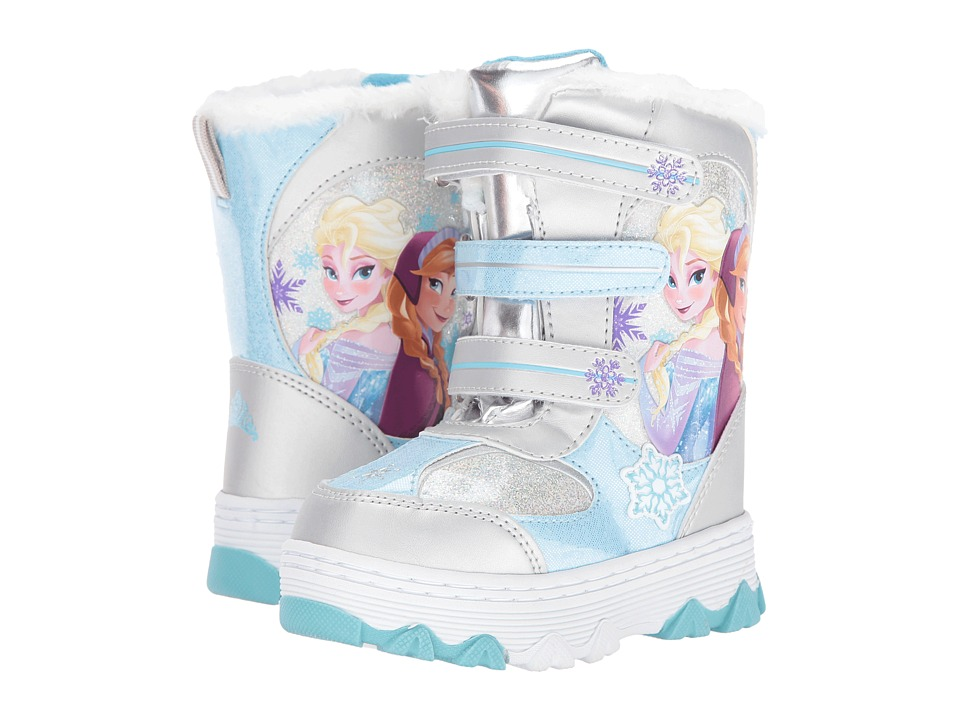 Josmo Kids Frozen Snow Boots (Toddler/Little Kid) (Silver Blue) Girls Shoes