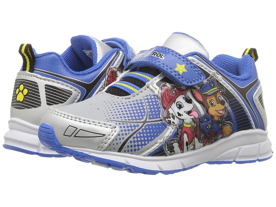 Josmo Kids - Paw Patrol Lighted Sneaker (Toddler/Little Kid) (Blue/Silver) Boys Shoes