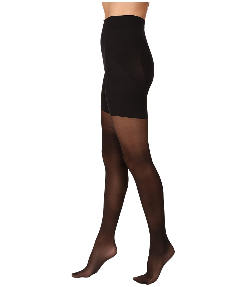 HUE - Sheer Shaping Tights (Black) Control Top Hose