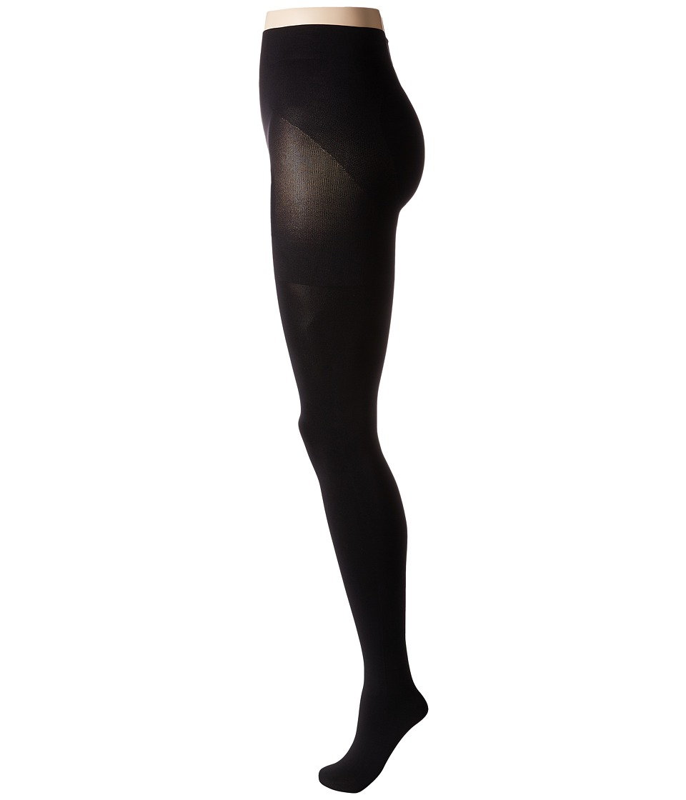 HUE - Blackout Opaque Shaping Tights (Black) Hose