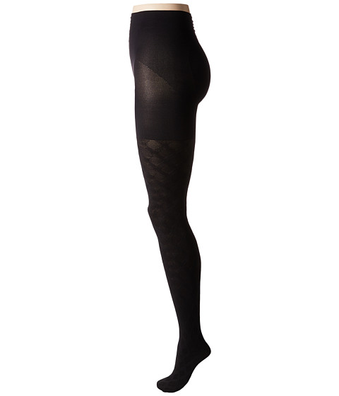 HUE Diamond Weave Shaping Tights - Black