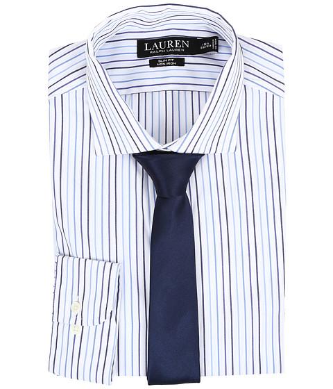 LAUREN Ralph Lauren Slim Estate Collar - White/Bond/Navy