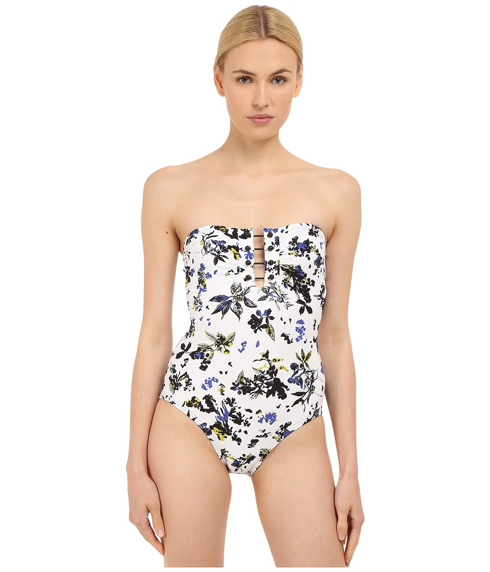 Proenza Schouler Bandeau Maillot One Piece White Womens Swimsuits One Piece
