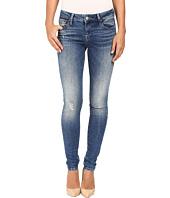 Mavi Jeans - Adriana Mid-Rise Super Skinny in Mid Destructed Vintage