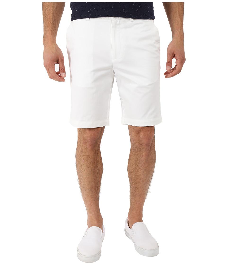 Perry Ellis Slim Fit Twill Shorts Bright White Mens Shorts