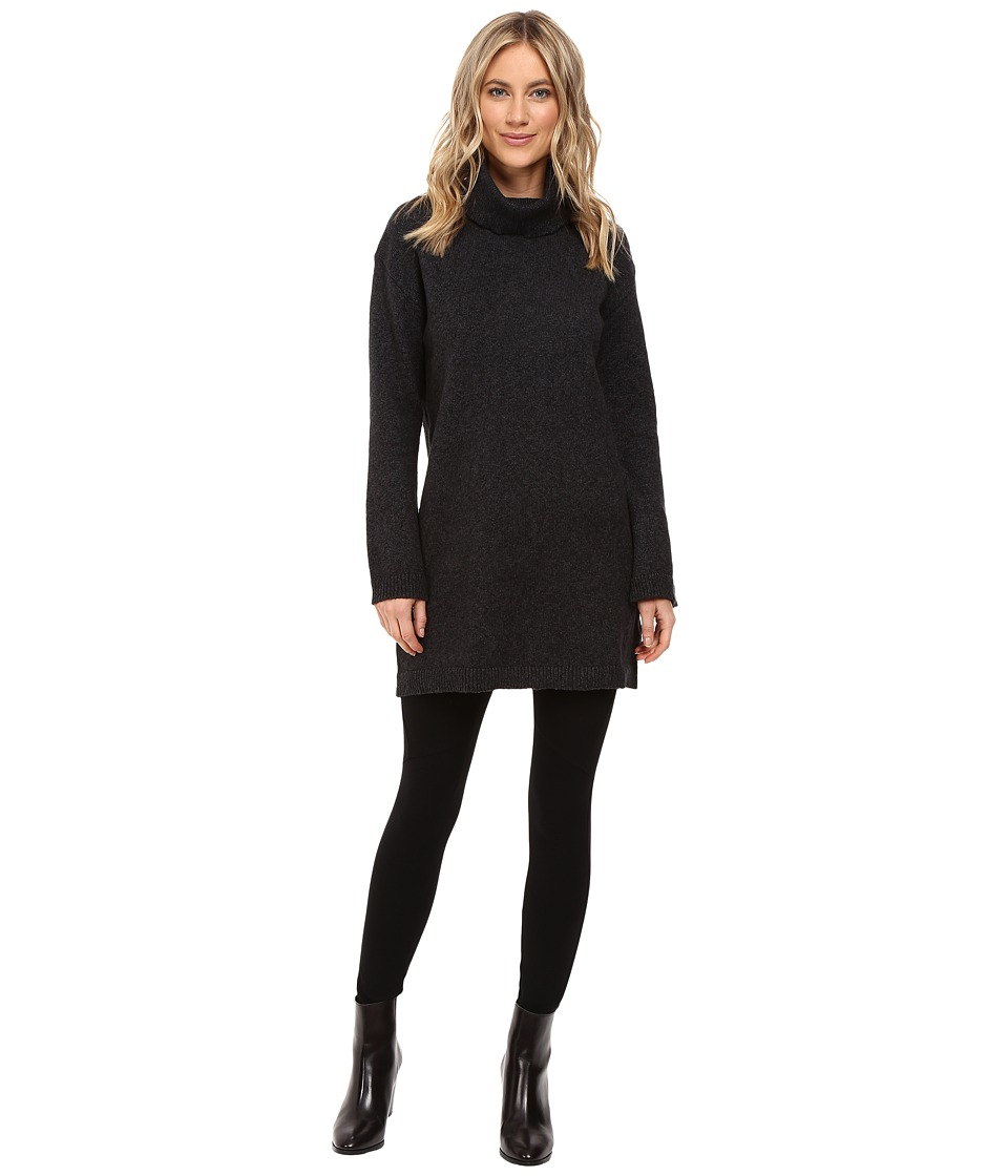 Sanctuary - Connie Mock Tunic (Marled Charcoal) Women's Long Sleeve Pullover