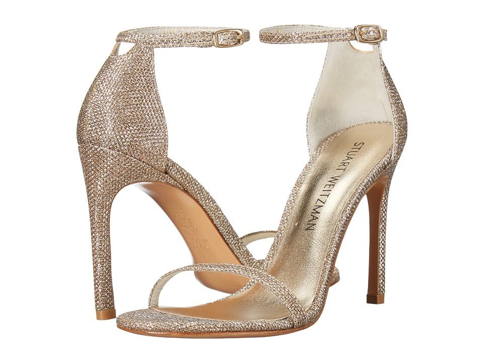 Stuart Weitzman Nudistsong (Platinum Noir) Women's Shoes