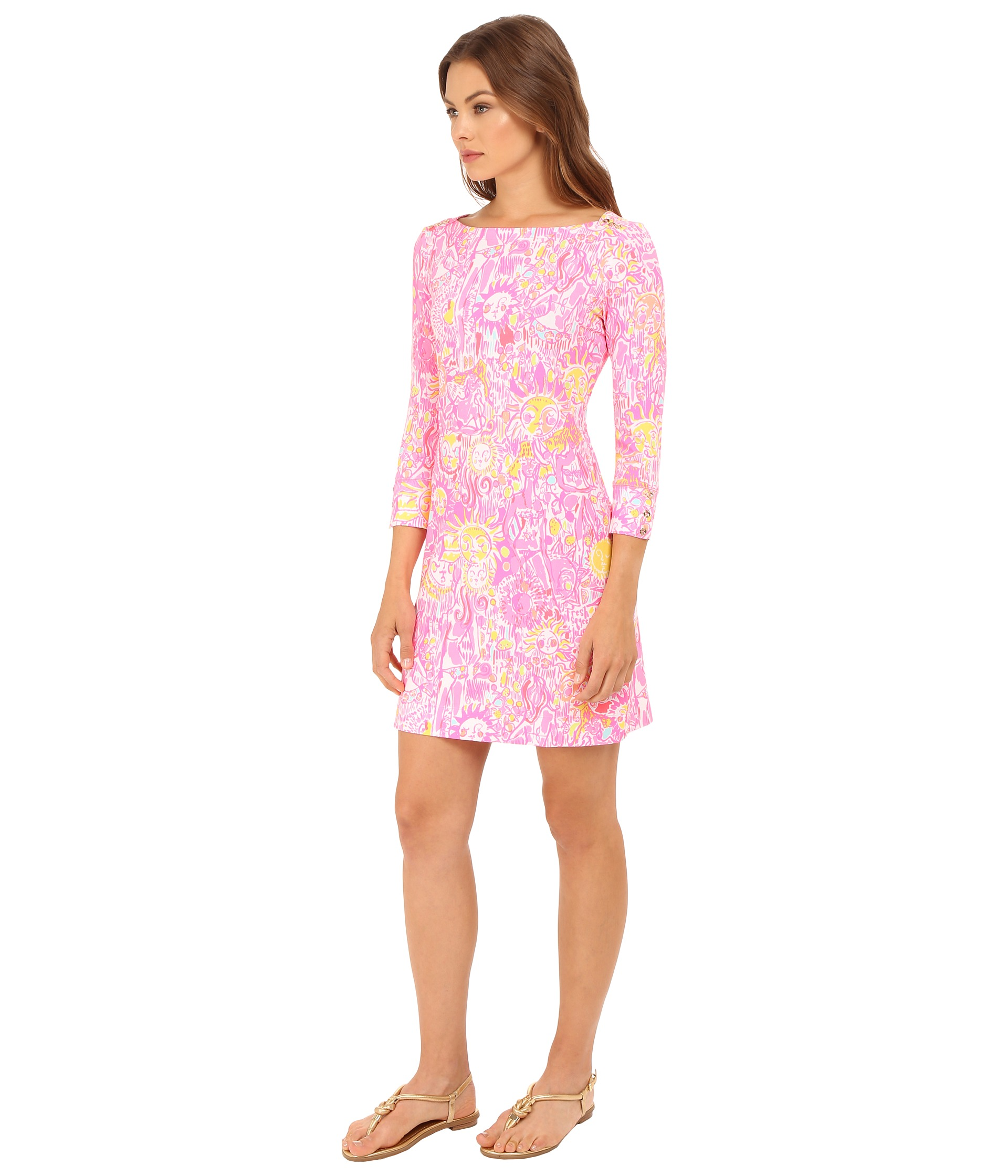 Sophie Dress: Lilly Pulitzer UPF 50+ Sophie Dress Pink Pout More Kinis
