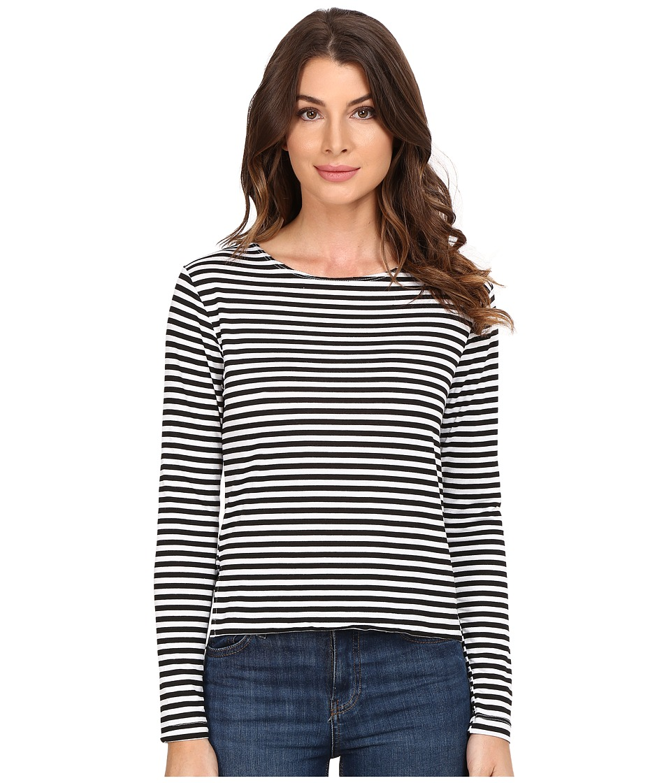 LNA - Odesza Stripe Long Sleeve (Black Stripe) Women