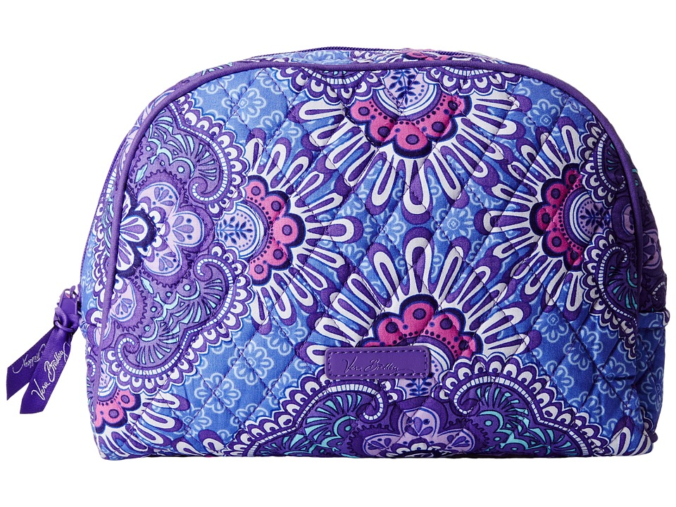 Vera Bradley Luggage Large Zip Cosmetic (Lilac Tapestry) Cosmetic Case
