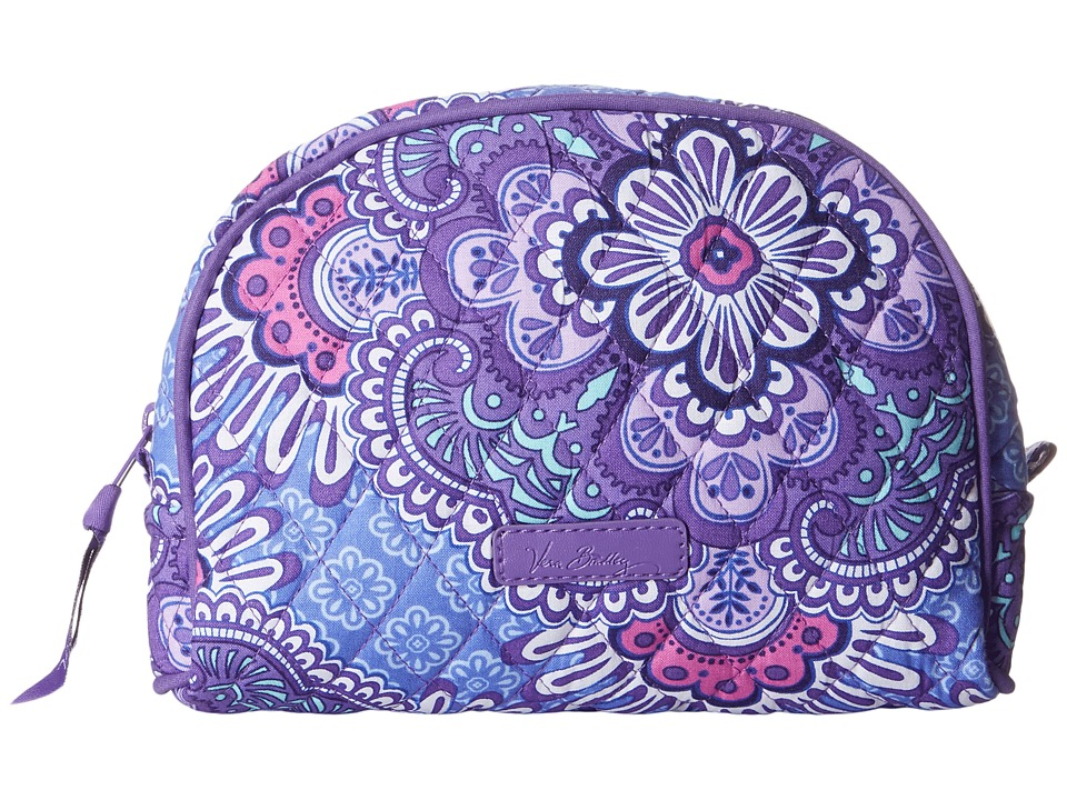 Vera Bradley Luggage Medium Zip Cosmetic (Lilac Tapestry) Cosmetic Case