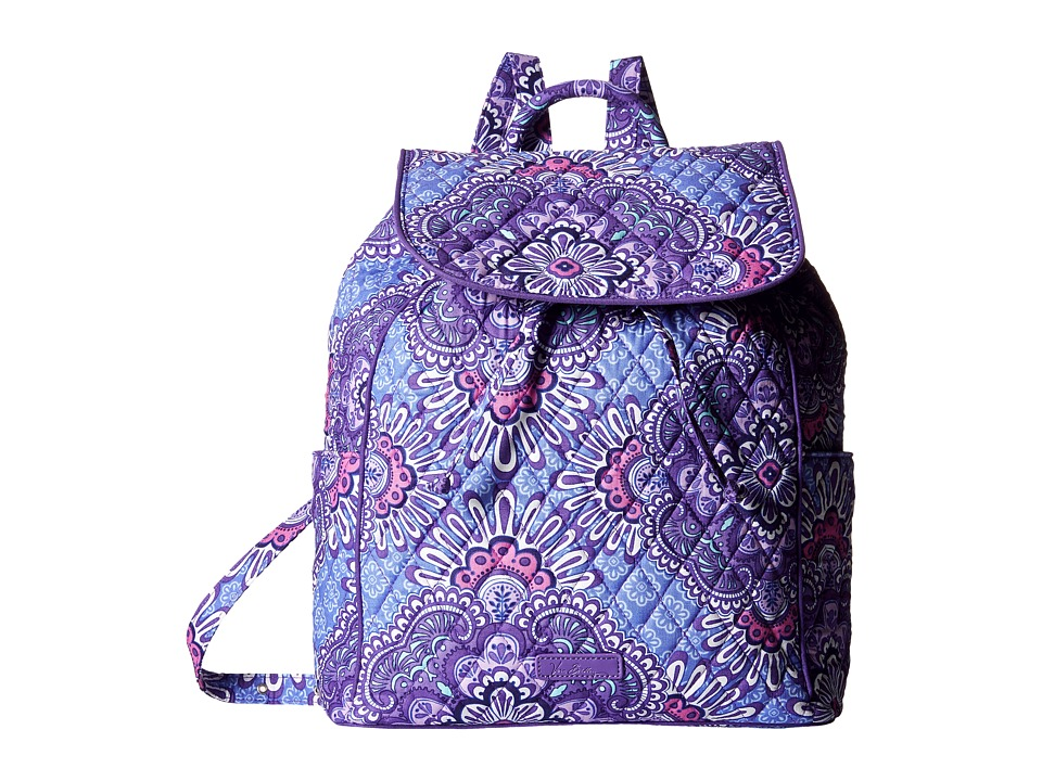 Vera Bradley - Drawstring Backpack (Lilac Tapestry) Backpack Bags