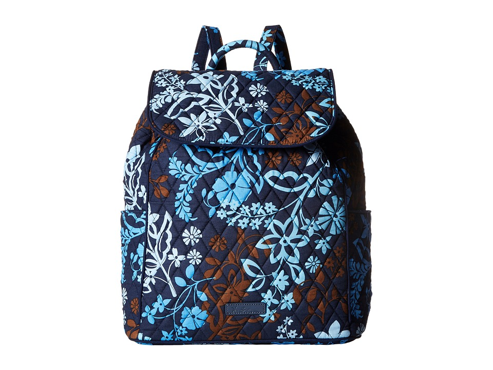 Vera Bradley - Drawstring Backpack (Java Floral) Backpack Bags