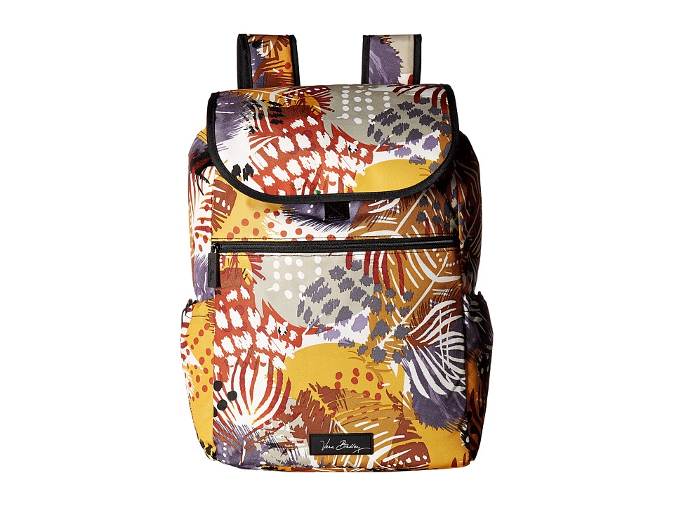Vera Bradley - Lighten Up Drawstring Backpack (Painted Feathers) Backpack Bags