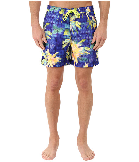 Original Penguin Psychedelic Palms Printed Fixed Volley Swim Shorts