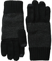Calvin Klein - Asymmetric Moss Stitch Fingerless Gloves