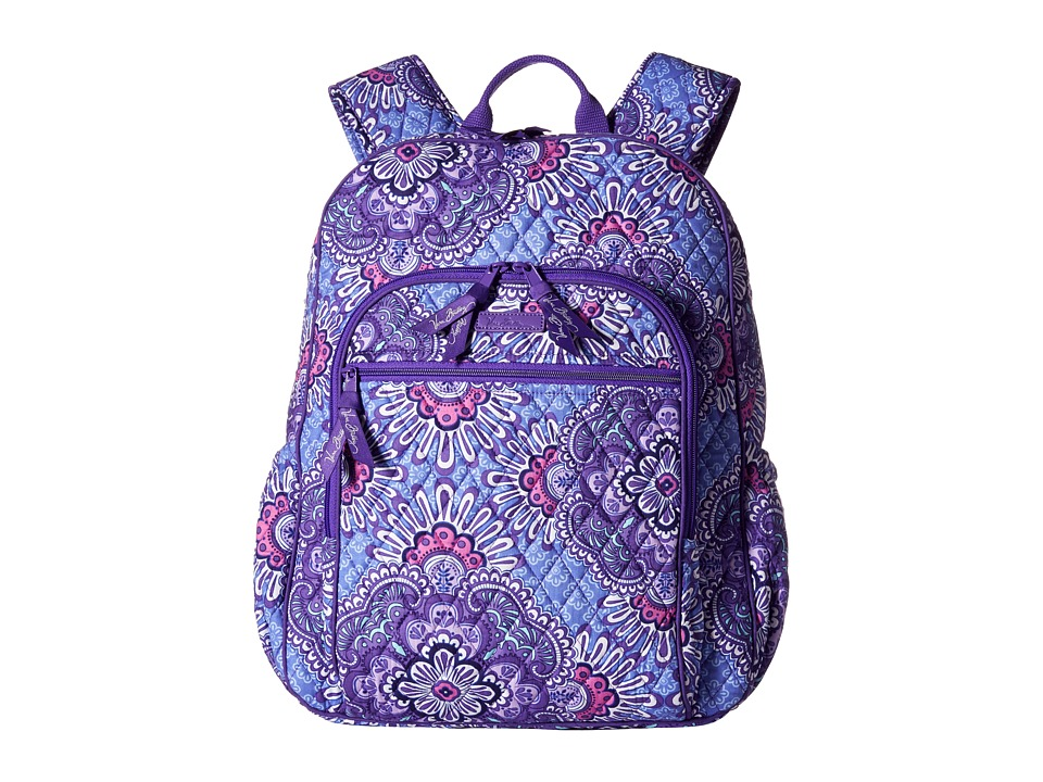 Vera Bradley - Campus Tech Backpack (Lilac Tapestry) Backpack Bags