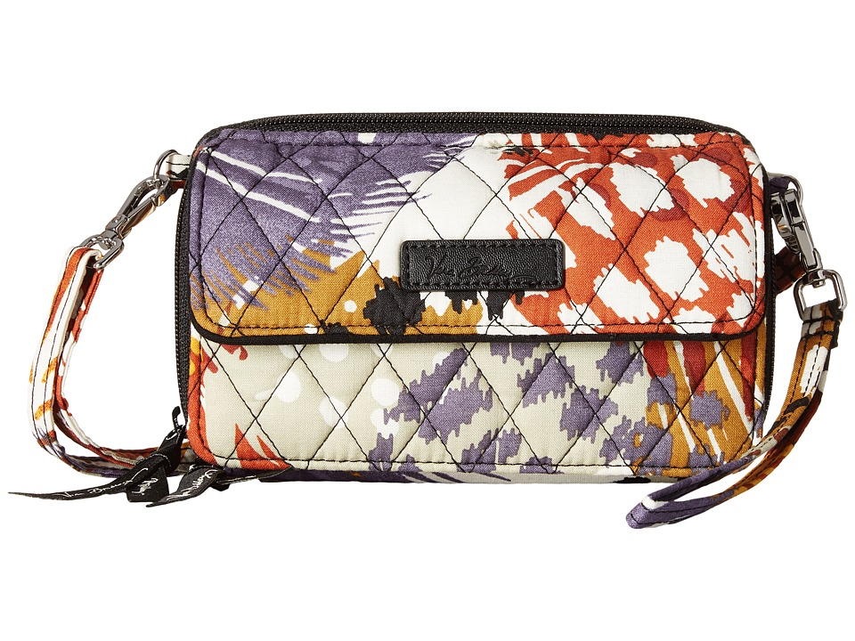 Vera Bradley - All in One Crossbody for iPhone 6+ (Painted Feathers) Clutch Handbags