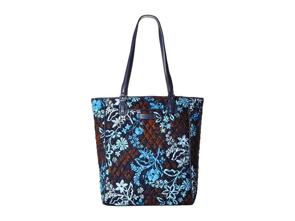 Vera Bradley - Crosstown Tote (Java Floral) Tote Handbags