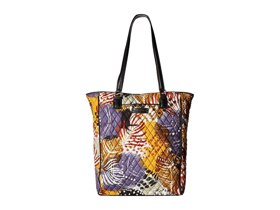 Vera Bradley - Crosstown Tote (Painted Feathers) Tote Handbags