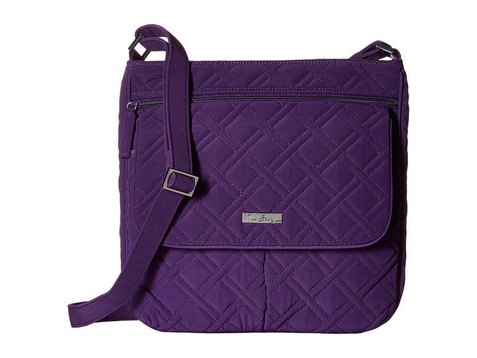 Vera Bradley - Double Zip Mailbag (Elderberry) Cross Body Handbags