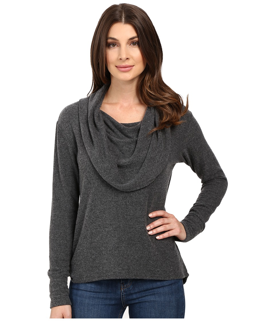 LNA Scarf Sweater (Charcoal) Women