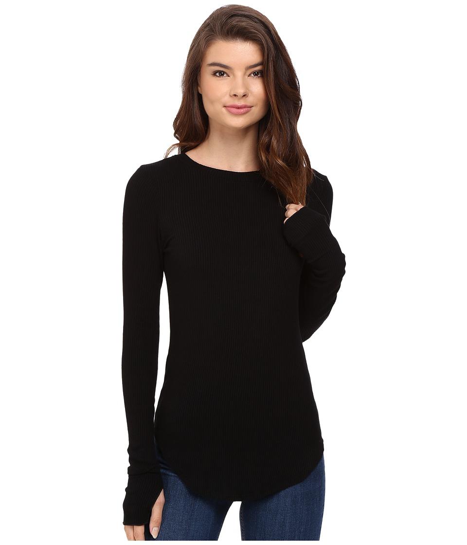 LNA - Sloane Rib Long Sleeve (Black) Women