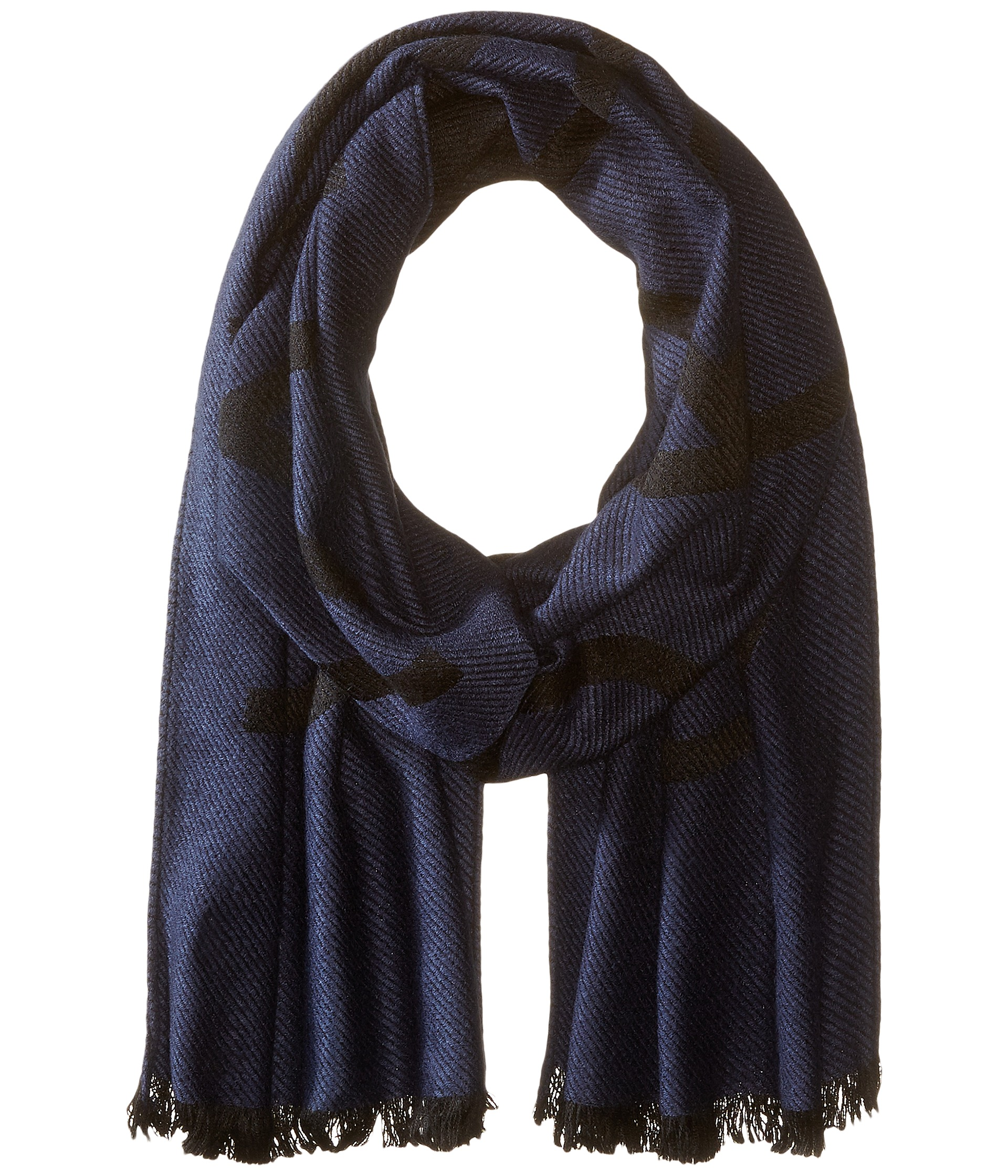 calvin klein woven twill logo scarf zappos free