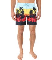 Original Penguin - Sunset Beach Printed Fixed Volley Swim Shorts