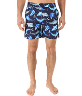 Original Penguin - Watercolor Shark Fixed Volley Swim Shorts