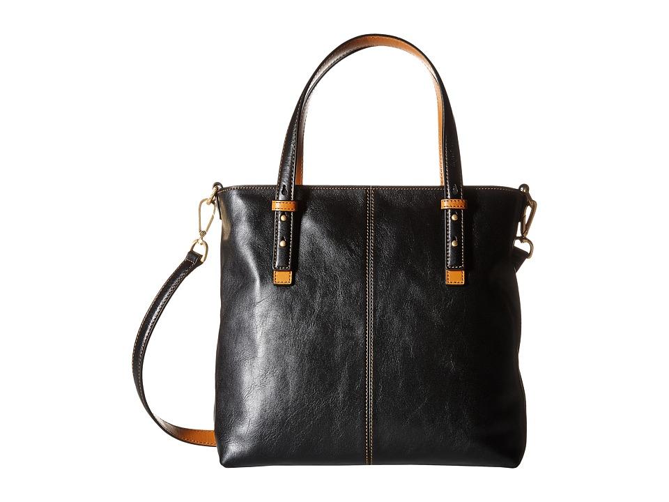 Vera Bradley Sagebrush Satchel (Black) Satchel Handbags