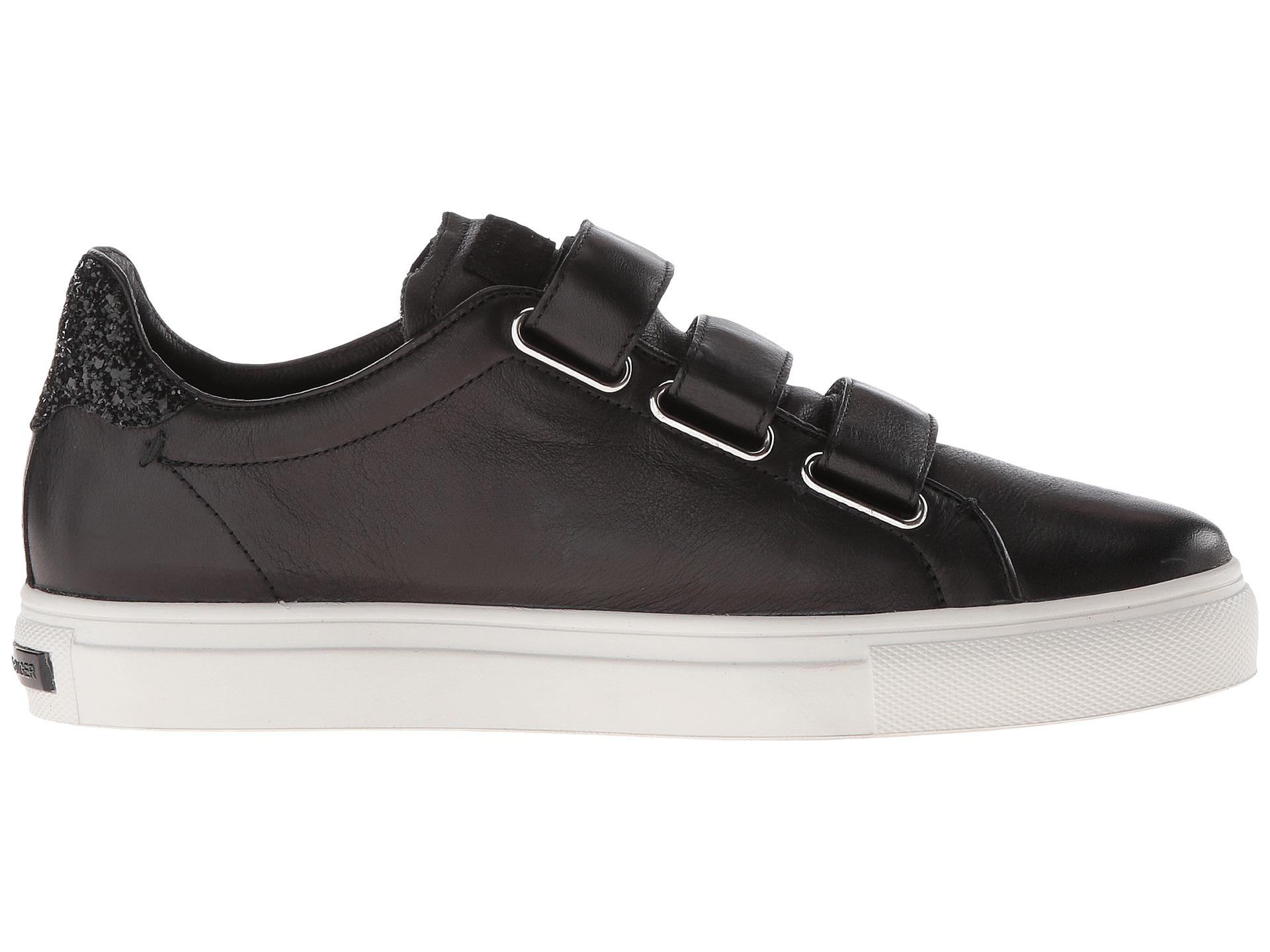 kennel schmenger three strap sneaker black calf glitter. Black Bedroom Furniture Sets. Home Design Ideas