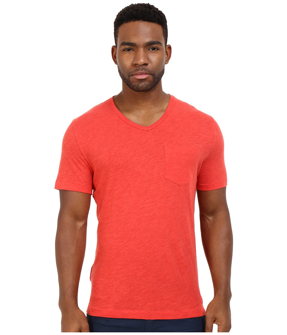 Original Penguin Bing V Neck Rococco Red Mens T Shirt