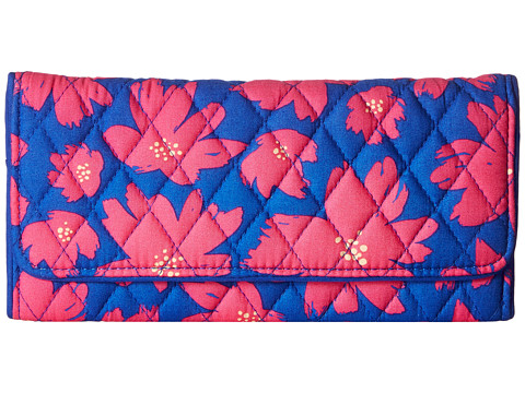 Vera Bradley Trifold Wallet - Art Poppies