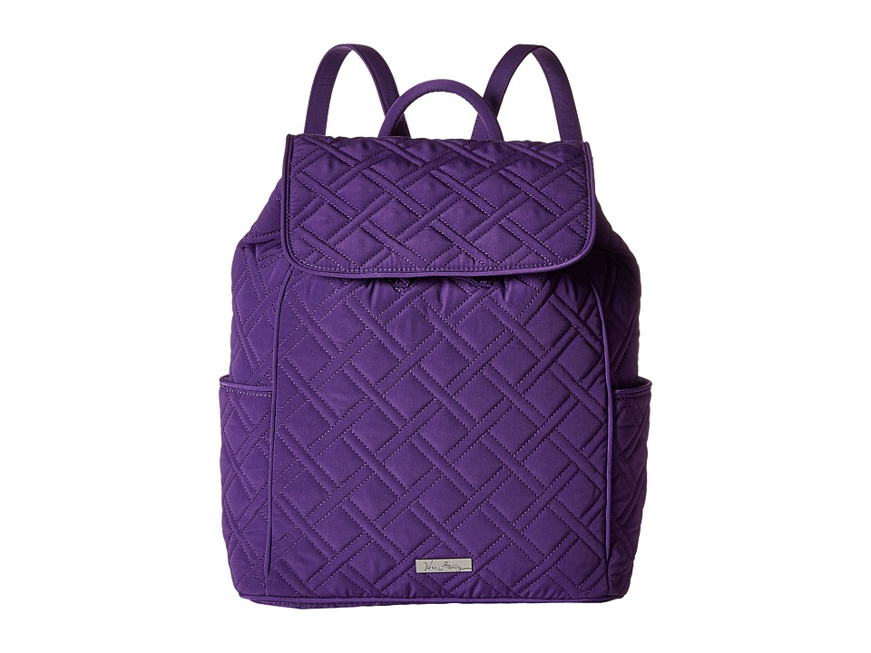 Vera Bradley - Drawstring Backpack (Elderberry) Backpack Bags