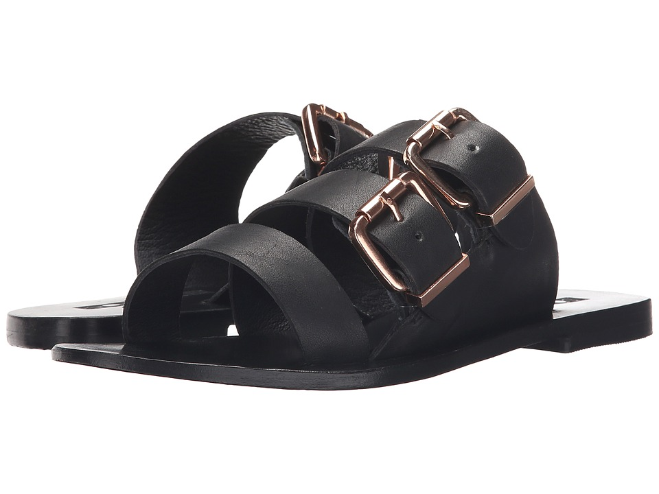 Sol Sana Foster Black/Black Womens Slide Shoes