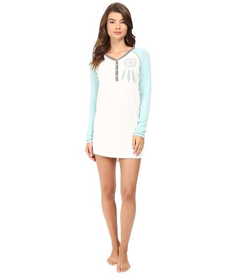 P.J. Salvage Dreamcatcher Henley Sleep Shirt - Soft White