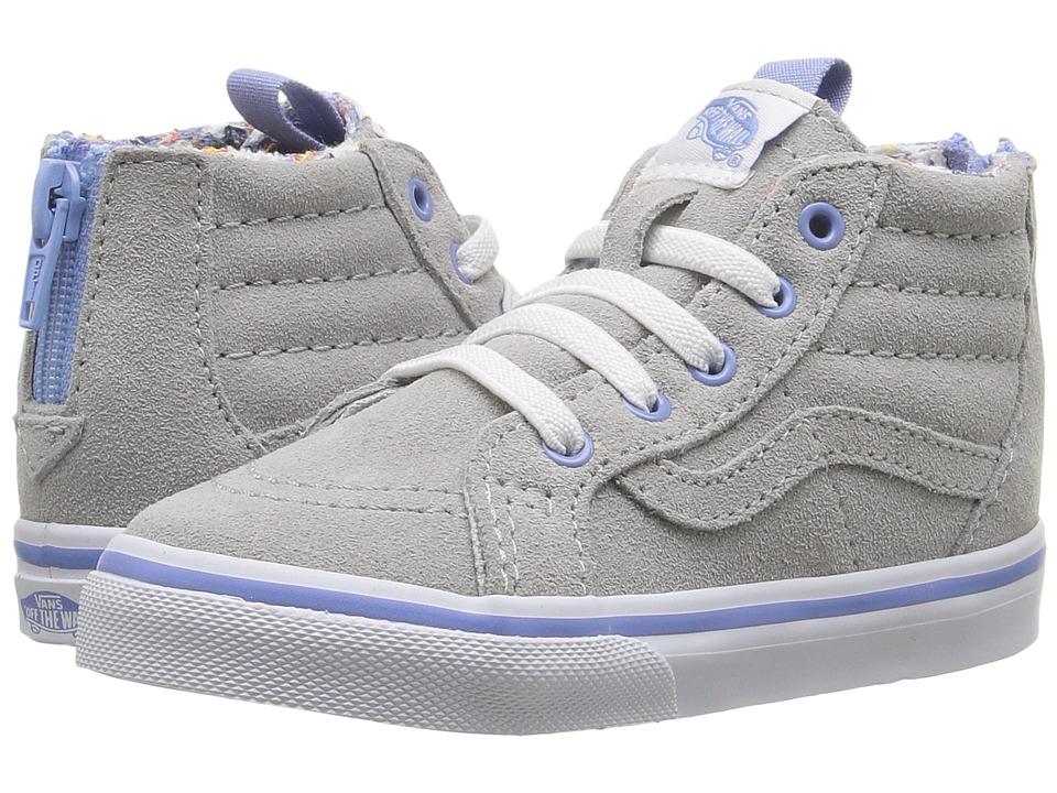 Vans Kids - Sk8-Hi Zip (Toddler) ((MTE)Floral Pop/Gray Violet) Girls Shoes